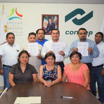 FIRMAN CONTRATO COLECTIVO DE TRABAJO CONALEP CAMPECHE Y SUPDCEPTEC