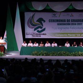 """GRADUACIÓN DE LA GENERACIÓN 2014-2017 EN EL CONALEP PLANTEL """"CD. DEL CARMEN"""" 021"""