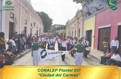 """PARTICIPA PLANTEL """"CD. DEL CARMEN"""" EN EL DESFILE DEL CVII ANIVERSARIO DE LA REVOLUCIÓN MEXICANA."""