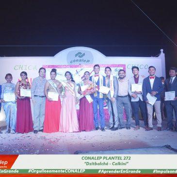 Eligen Chica y Chico CONALEP 2017-2018 en el Plantel Dzitbalché-Calkiní