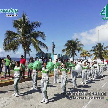 Participa el Plantel CONALEP Cd. del Carmen en el Desfile por el CVIII Aniversario de la Revolución Mexicana