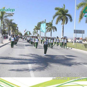 Participa el plantel Lic. Guillermo González Galera en el Desfile del CVIII Aniversario de la Revolución Mexicana