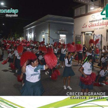 Participa en desfile Conmemorativo del CVIII Aniversario de la Revolución Mexicana el Plantel Dzitbalché- Calkiní