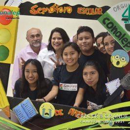 Semáforo de ayuda Escolar en el Plantel CONALEP Campeche