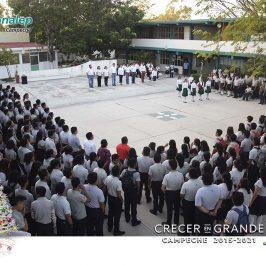 Homenaje cívico del Mes de Diciembre en el plantel CONALEP Cd. del Carmen