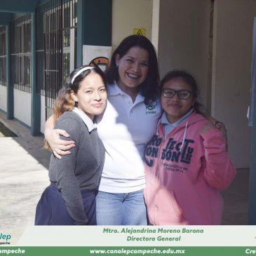 """Visita de la Directora General del CONALEP Campeche al plantel """"Lic. Guillermo González Galera"""""""